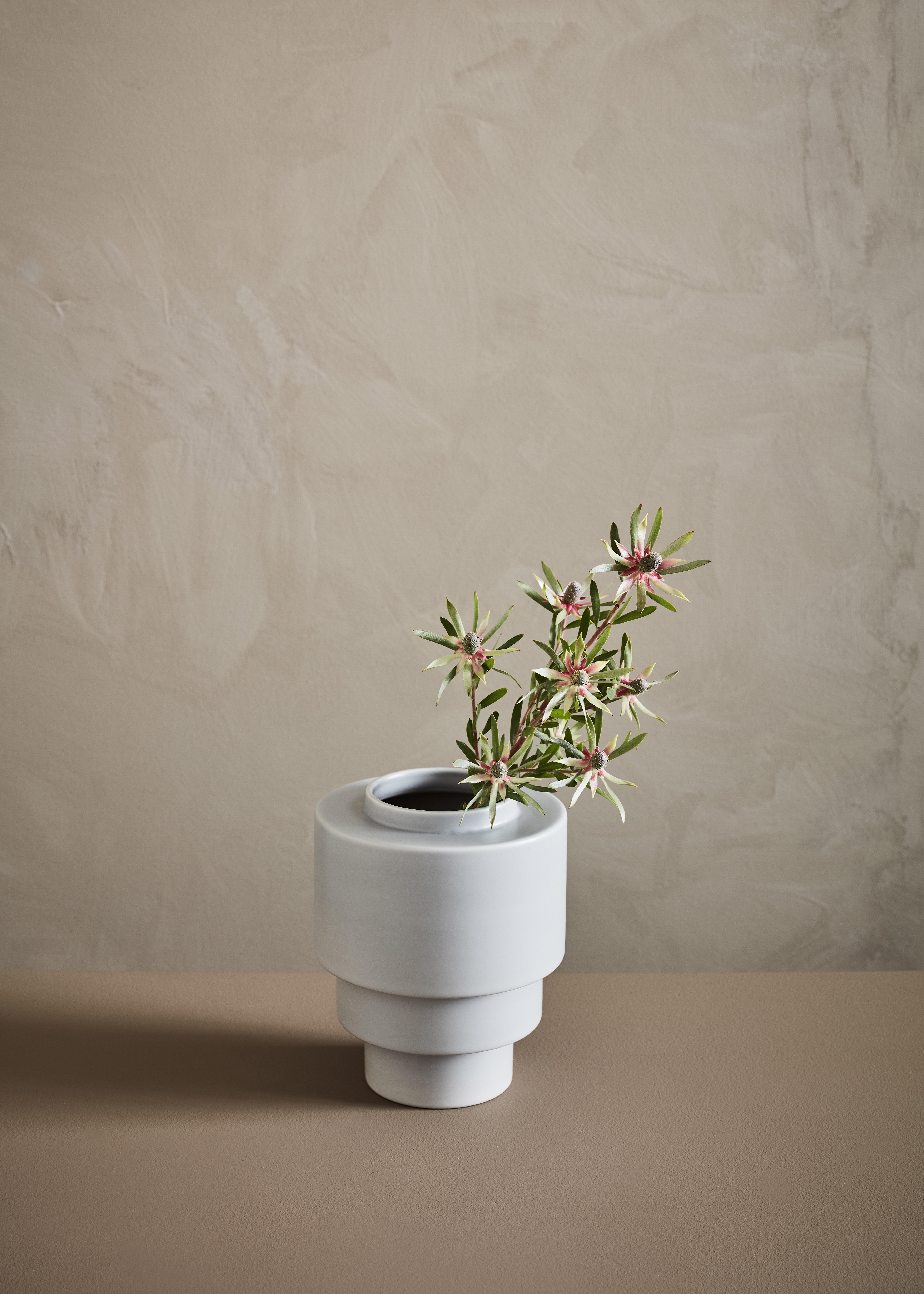 AKKA - Ceramic Pot Grey Matt