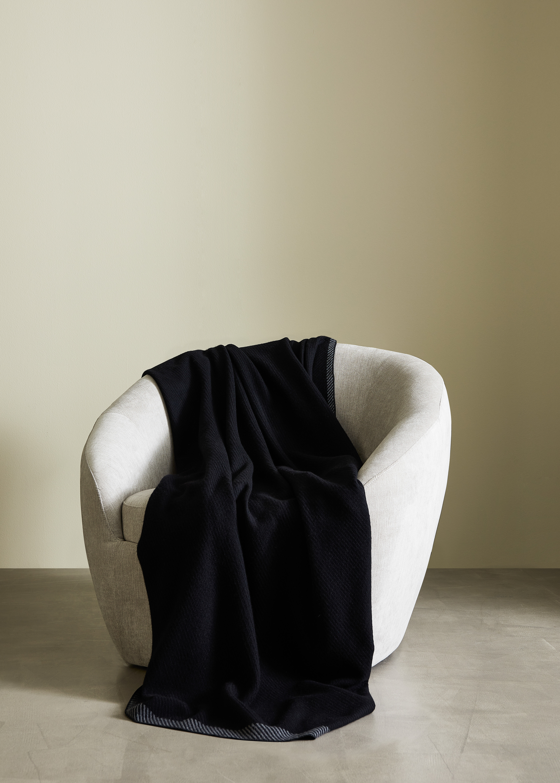 FRÖJA - Throw Wool Black