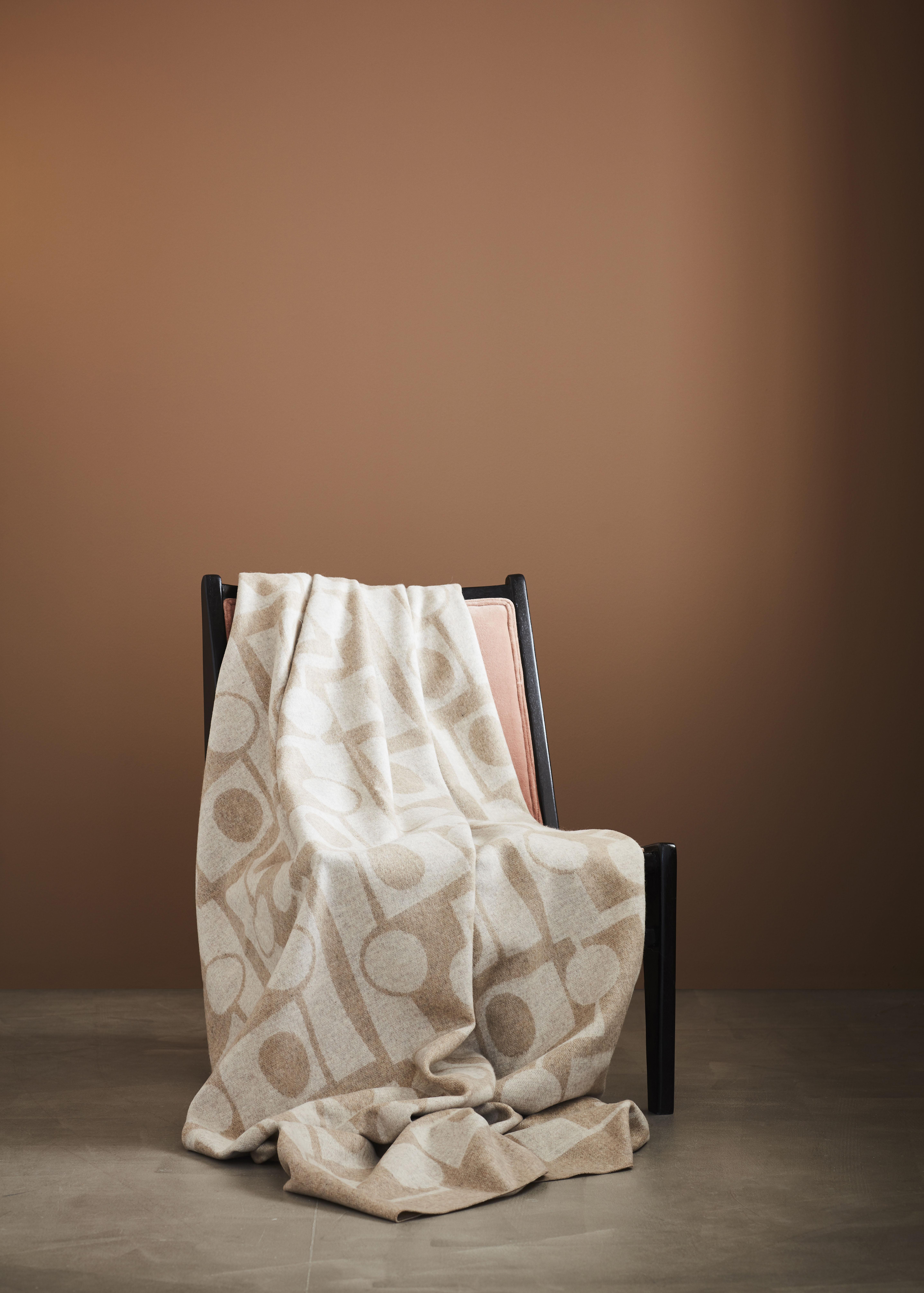 ILMA - Throw Wool/Cashmere Honey/Beige