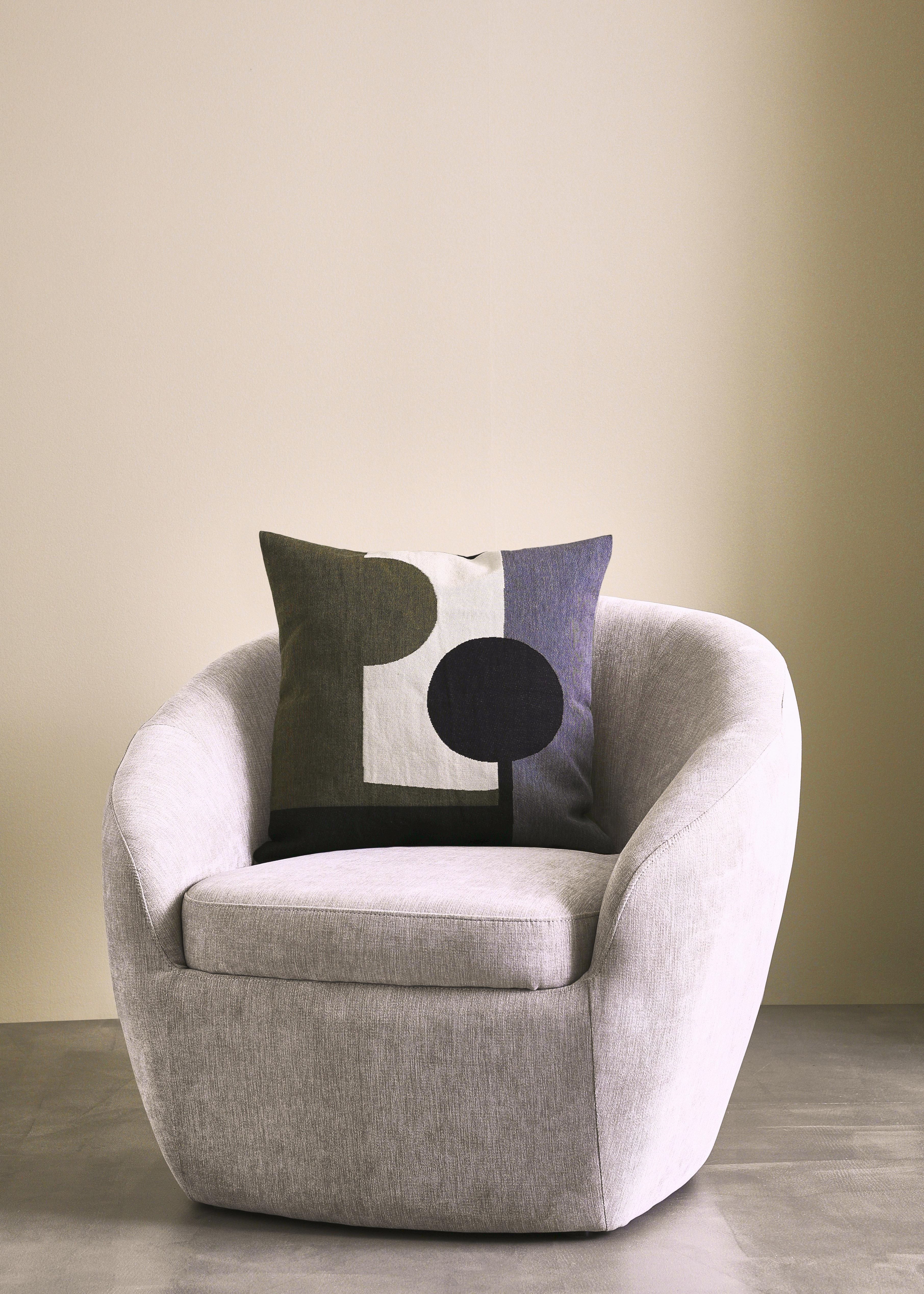 LIA - Cushion Green Jacquard 50x50cm