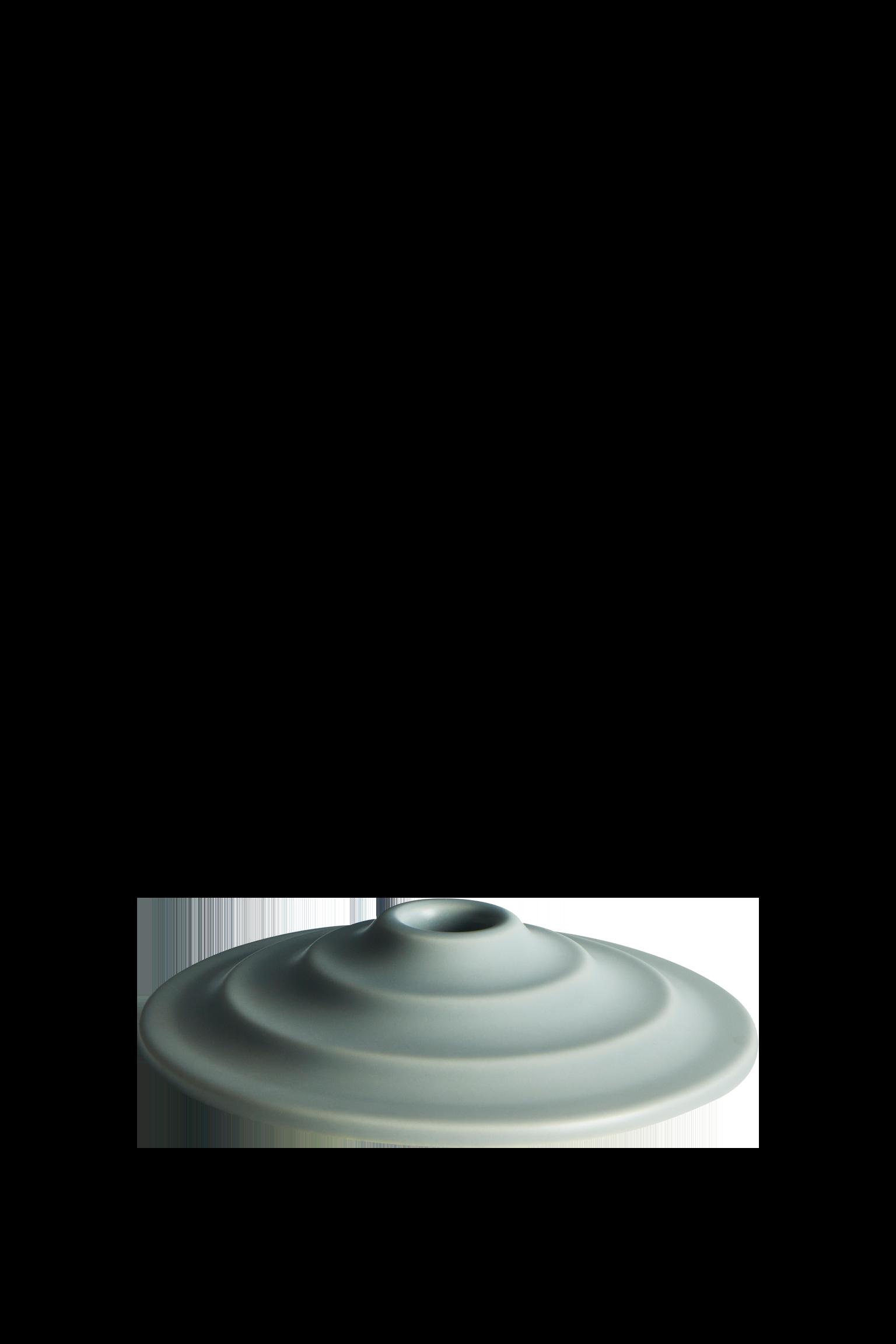 LAVA - Candle holder grey matt