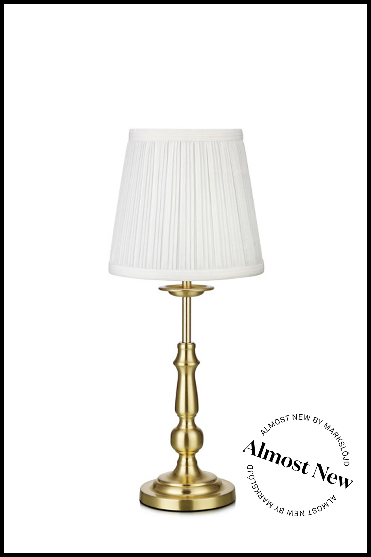 ALMOST NEW IMPERIA TABLE BRASS/WHITE